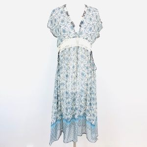 Johnny Was For Love and Liberty Sheer Silk Dress